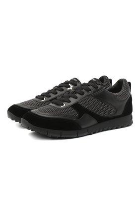 Мужские комбинированные кроссовки java JIMMY CHOO черного цвета, арт. JAVA/M/XAT   Фото 1