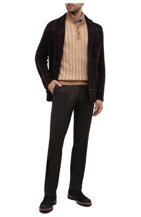 Мужские шерстяные брюки BERWICH темно-коричневого цвета, арт. SC/1 ALC/VB2108 | Фото 2