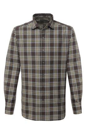 Мужская хлопковая рубашка CORNELIANI коричневого цвета, арт. 86P156-0811525/00   Фото 1