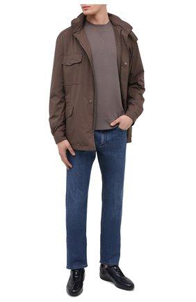 Мужские кожаные кроссовки SANTONI темно-синего цвета, арт. MSAM21410NARRTQIU40   Фото 2