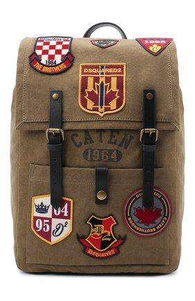 Мужской текстильный рюкзак DSQUARED2 светло-коричневого цвета, арт. BPM0041 88600001 | Фото 1