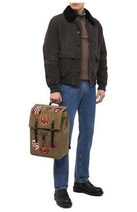 Мужской текстильный рюкзак DSQUARED2 светло-коричневого цвета, арт. BPM0041 88600001 | Фото 2