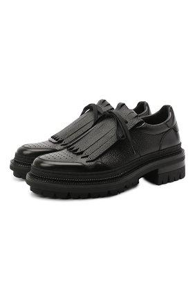 Мужские кожаные ботинки DSQUARED2 черного цвета, арт. LUM0055 14410001 | Фото 1