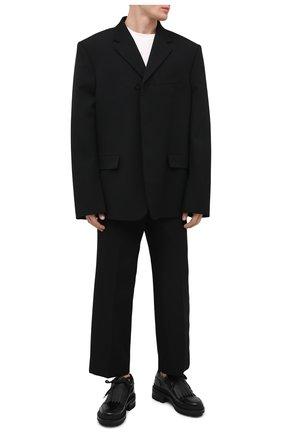 Мужские кожаные ботинки DSQUARED2 черного цвета, арт. LUM0055 14410001 | Фото 2