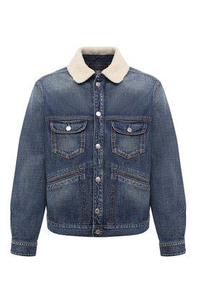 Мужская джинсовая куртка ISABEL MARANT синего цвета, арт. VE1462-20A018H/JAREDEN | Фото 1