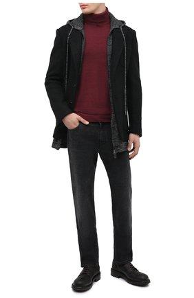 Мужской кожаные дерби DOLCE & GABBANA темно-коричневого цвета, арт. A10656/AW374 | Фото 2