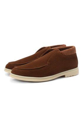 Мужские замшевые ботинки open wintery walk LORO PIANA светло-коричневого цвета, арт. FAL4735 | Фото 1