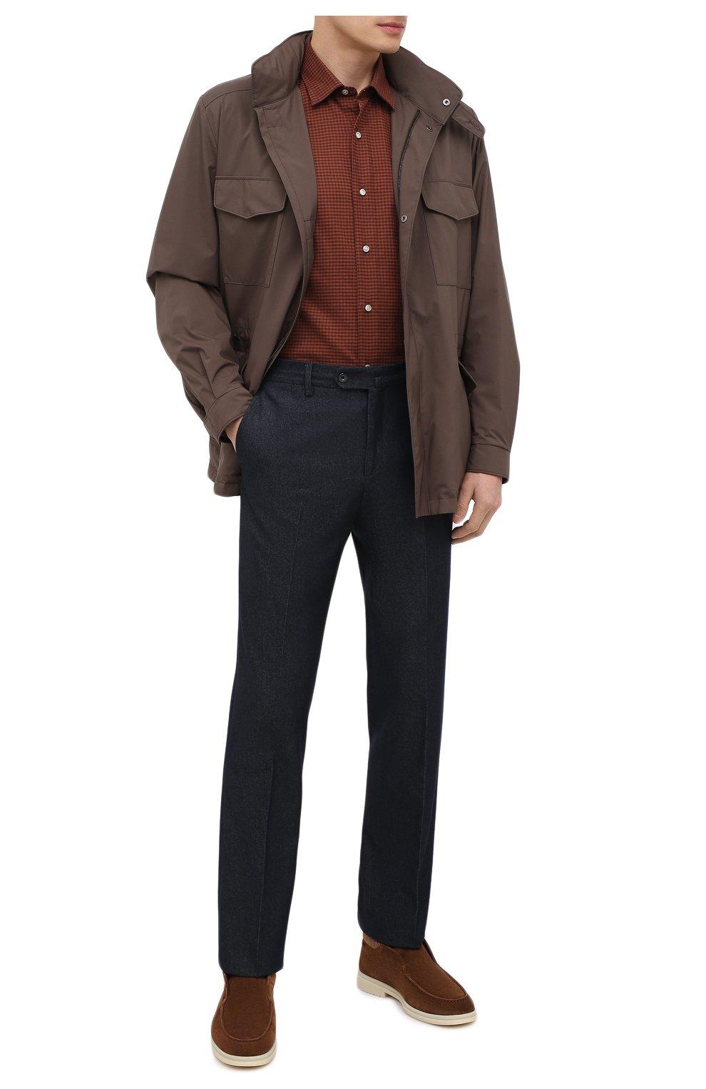Мужские замшевые ботинки open wintery walk LORO PIANA светло-коричневого цвета, арт. FAL4735   Фото 2