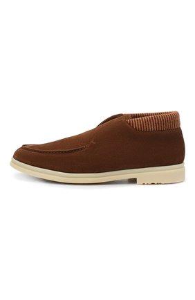 Мужские замшевые ботинки open wintery walk LORO PIANA светло-коричневого цвета, арт. FAL4735   Фото 3