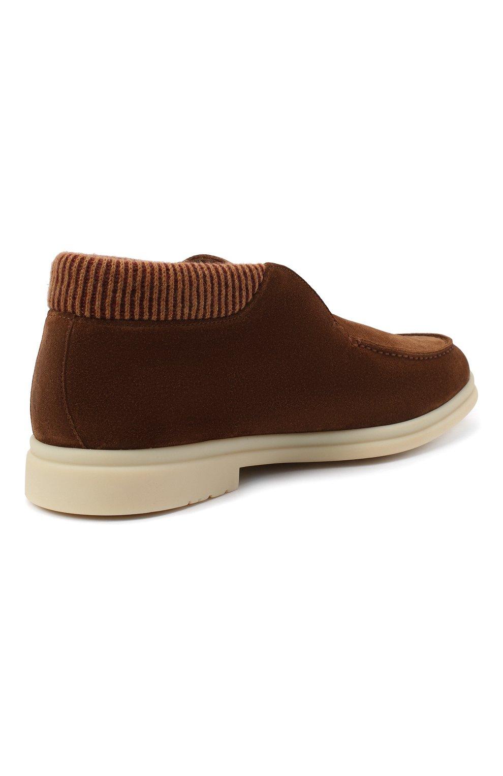 Мужские замшевые ботинки open wintery walk LORO PIANA светло-коричневого цвета, арт. FAL4735   Фото 4