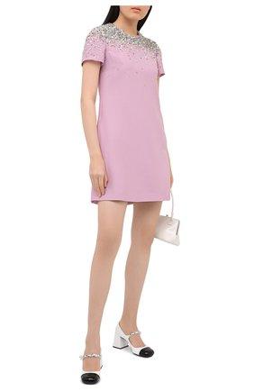 Женское платье из шерсти и шелка VALENTINO розового цвета, арт. UB3VATG51CF | Фото 2