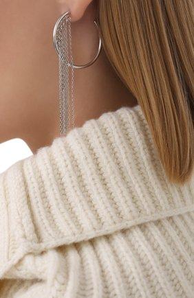 Женские серьги EXCLAIM серебряного цвета, арт. 042S3183E | Фото 2