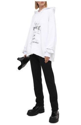 Женская хлопковое худи 404 NOT FOUND белого цвета, арт. 490101 | Фото 2
