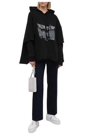 Женская хлопковое худи 404 NOT FOUND черного цвета, арт. 500202 | Фото 2