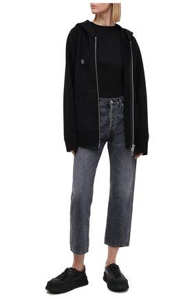 Женский хлопковая толстовка TOSKVA черного цвета, арт. ZIP hoodie-MENHZ.U.001 -W21-F5-900-100   Фото 2