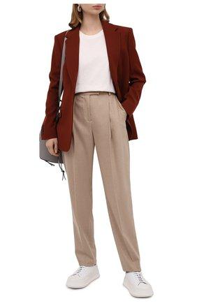 Женские шерстяные брюки BOSS бежевого цвета, арт. 50440970 | Фото 2