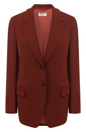 Женский шерстяной жакет BOSS коричневого цвета, арт. 50448920 | Фото 1