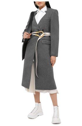 Женские текстильные ботинки ALEXANDER MCQUEEN белого цвета, арт. 611706/W4L32 | Фото 2