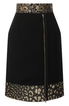 Женская шерстяная юбка DOLCE & GABBANA черного цвета, арт. J4025T/FU2TS | Фото 1