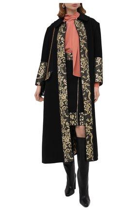 Женская шерстяная юбка DOLCE & GABBANA черного цвета, арт. J4025T/FU2TS | Фото 2