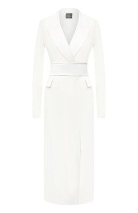 Женское шерстяное платье LORENA ANTONIAZZI белого цвета, арт. SI2003AB006/318 | Фото 1