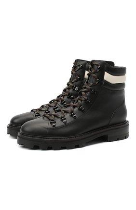 Женские кожаные ботинки eshe JIMMY CHOO черно-белого цвета, арт. ESHE FLAT/HLN | Фото 1