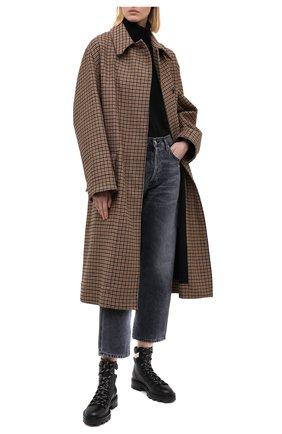 Женские кожаные ботинки eshe JIMMY CHOO черно-белого цвета, арт. ESHE FLAT/HLN | Фото 2
