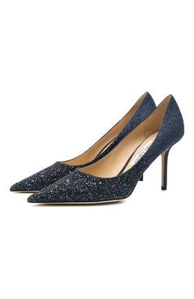 Женская туфли romy 85 JIMMY CHOO синего цвета, арт. L0VE 85/VLD | Фото 1