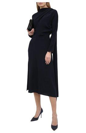 Женская туфли romy 85 JIMMY CHOO синего цвета, арт. L0VE 85/VLD | Фото 2
