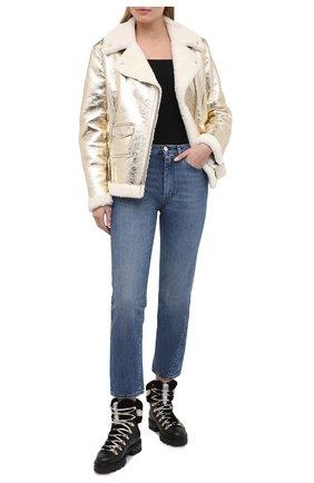 Женская дубленка GOLDEN GOOSE DELUXE BRAND золотого цвета, арт. GWP00205.P000194 | Фото 2