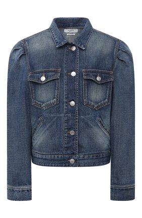 Женская джинсовая куртка ISABEL MARANT ETOILE синего цвета, арт. VE1421-20A034E/B0LINEA | Фото 1