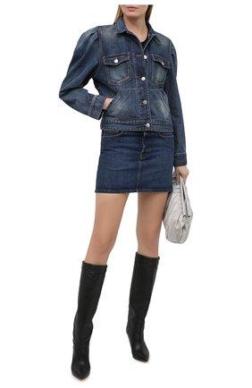 Женская джинсовая куртка ISABEL MARANT ETOILE синего цвета, арт. VE1421-20A034E/B0LINEA | Фото 2