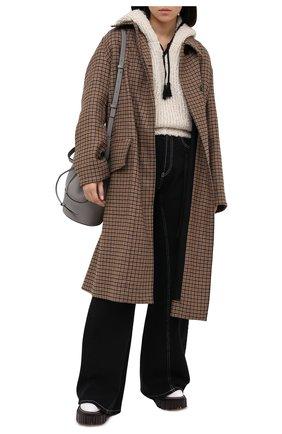 Женская шерстяное худи ISABEL MARANT бежевого цвета, арт. PU1475-20H005I/ELEANA | Фото 2