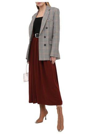 Женские кожаные ботильоны SERGIO ROSSI светло-коричневого цвета, арт. A92810-MAF715   Фото 2