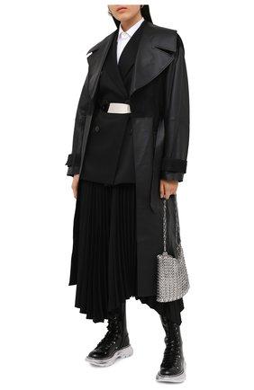 Женские кожаные сапоги ALEXANDER MCQUEEN черного цвета, арт. 633907/WHQSI | Фото 2