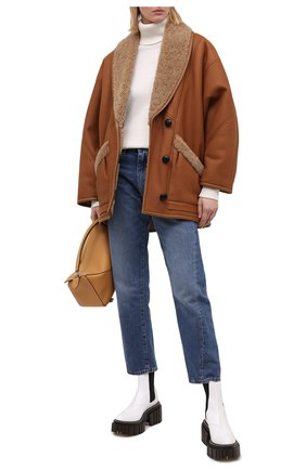Женская дубленка ISABEL MARANT коричневого цвета, арт. MA0685-20A001I/AUDRINA | Фото 2