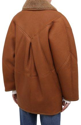 Женская дубленка ISABEL MARANT коричневого цвета, арт. MA0685-20A001I/AUDRINA   Фото 4