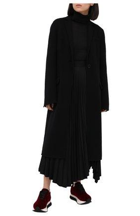 Женские текстильные кроссовки bigfoot MARNI бордового цвета, арт. SNZW000704/P3784   Фото 2