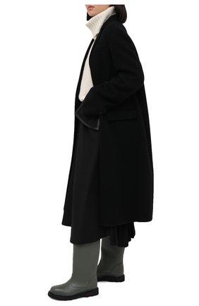 Женские кожаные сапоги MARNI темно-зеленого цвета, арт. STMS005802/P3745 | Фото 2