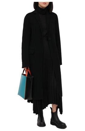 Женские кожаные челси MARNI черного цвета, арт. TCMS005802/P3745 | Фото 2