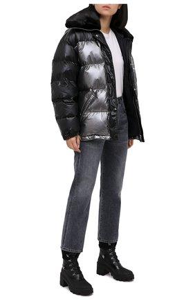 Женские кожаные ботильоны corinne MONCLER черного цвета, арт. F2-09B-4F709-00-02SEB | Фото 2