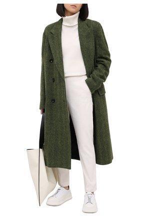 Женские брюки из вискозы и хлопка ELEVENTY белого цвета, арт. B80PANA15 TES0B186 | Фото 2