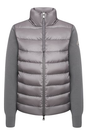 Женский пуховая куртка MONCLER серого цвета, арт. F2-093-9B511-00-A9018 | Фото 1