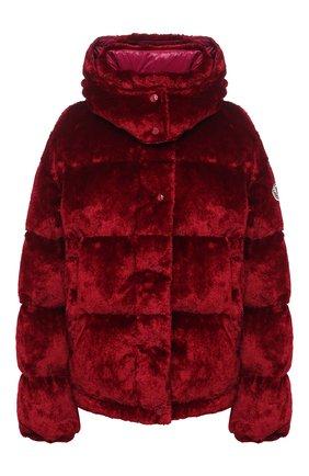 Женский пуховая куртка MONCLER красного цвета, арт. F2-093-1A571-00-54AQ1 | Фото 1