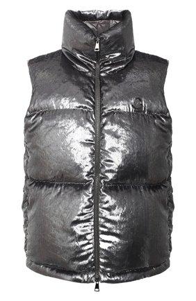 Женский пуховый жилет MONCLER серебряного цвета, арт. F2-093-1A551-00-54ANX | Фото 1