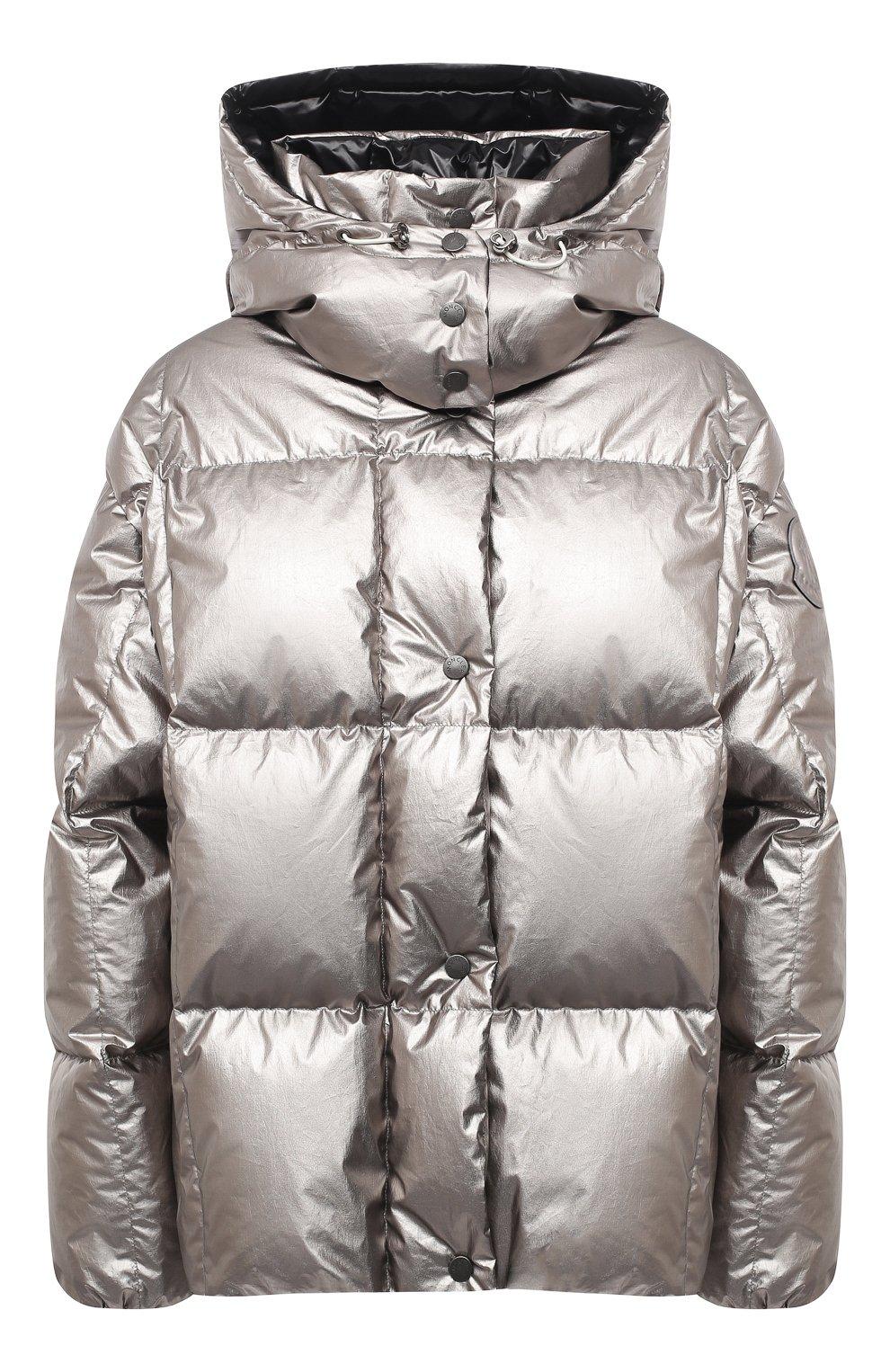 Женский пуховая куртка MONCLER серебряного цвета, арт. F2-093-1A51N-00-V0124   Фото 1