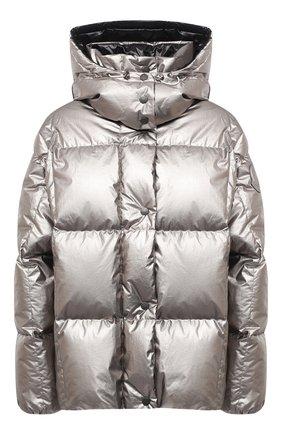 Женский пуховая куртка MONCLER серебряного цвета, арт. F2-093-1A51N-00-V0124 | Фото 1