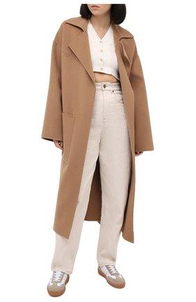 Женские кожаные кеды DRIES VAN NOTEN белого цвета, арт. WW202/006/QU119 | Фото 2