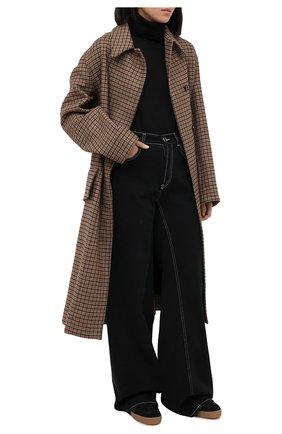 Женские кожаные кеды DRIES VAN NOTEN черного цвета, арт. WW202/006/QU119 | Фото 2