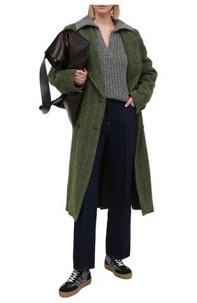 Женские кожаные кеды DRIES VAN NOTEN черного цвета, арт. WW202/006/QU120 | Фото 2